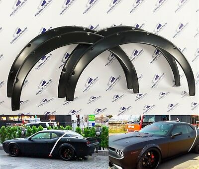Dodge Challenger SRT 07-16 Fender Flares Wheel Arches Wide body ABS SET of 4 PCS