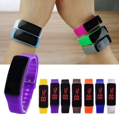 Child Boys Girls Kids LED Sport Electronic Digital Wristwatch Watch GIFT