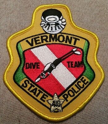 VT Vermont State Police Dive Team Patch