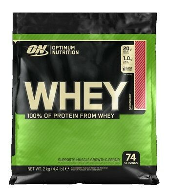Gold Standard Optimum Nutrition Whey Protein - 2kg WPC 100% Sourced From Whey