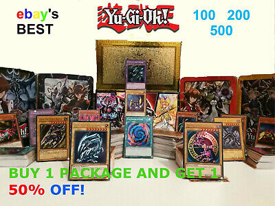 ☆Yugioh Card Bundle☆ 100 200 500 Gift Sets / Premium Quality / Holos Guaranteed