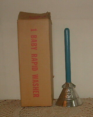 Vtg Antique Baby Rapid Washer Hand Laundry Clothes Clothing Plunger w/ Orig Box