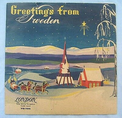 Weihnachten Vinyl LP Greetings from Sweden 1954 Musik WB. 91.046 London
