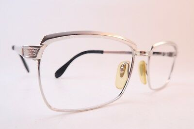 Vintage 60s eyeglasses frames white gold filled 1-10 12K METZLER made in Germany