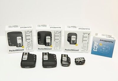 Pocket Wizard (2) Flex TT5, Mini TT1, AC3 for Nikon PocketWizard FlexTT5 MiniTT1