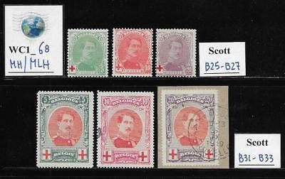 WC1_68. BELGIUM. Two valuable early semi-postal sets. Mint