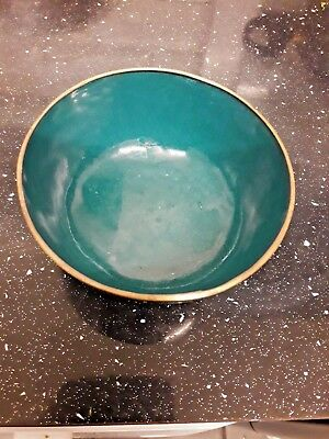 Antique Chinese Cloisonne Dragon Enamel Bowl