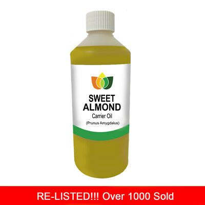500ml SWEET ALMOND OIL PREMIUM Cold Pressed Natural Carrier/Base