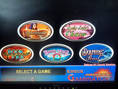 Gaminator  Deluxe Touch Screen , System for Pc Based Slot Machine Professional