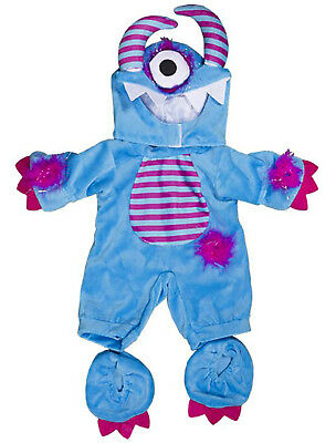 "One Eyed Monster Costume Teddy Bear Clothes Fits Most 14""-18"" Build-A-Bear & Mor"
