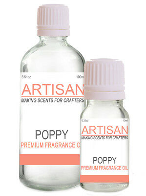 POPPY FRAGRANCE OIL 10ml 100ml for Candles Melts Home Fragrance PotPourri