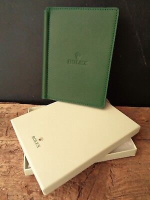 Genuine Green Leather Rolex Golf Scorecard Holder, New In Box, Christmas Present