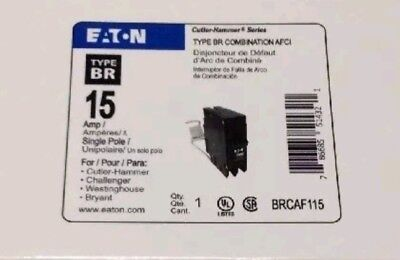 CUTLER HAMMER EATON BRCAF115 ARC-FAULT AFCI BREAKER 15A NEW IN BOX lot of 4