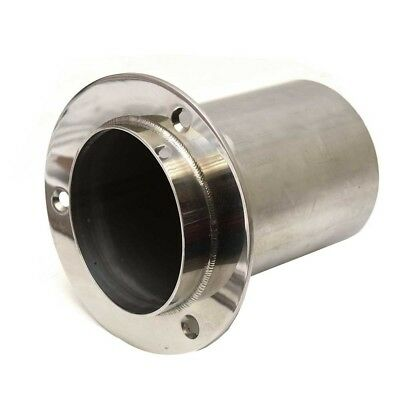 Boat Exhaust Tip 13041 | 4 Inch Stainless w/Flapper Rubber