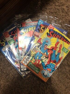 Lot of 5 Vintage DC Superman Comic Books - 1982-1983