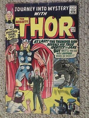 journey into mystery #113 (feb 1965 marvel) early thor stan lee jack kirby VG