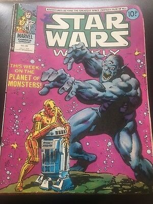 Star Wars Weekly Comic Marvel UK January 1979 Issue 48