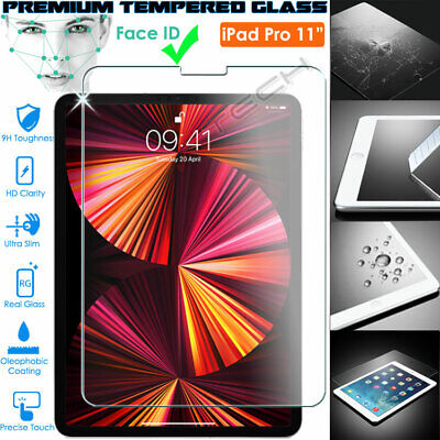 "100% Genuine TEMPERED GLASS Screen Protector for Apple iPad Pro 11"" - Face ID OK"
