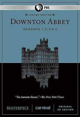 Masterpiece: Downton Abbey - Seasons 1-4 (DVD, 2014, 12-Disc Set)