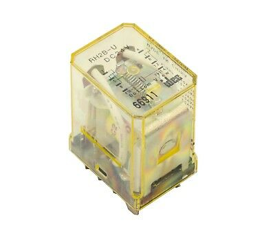 IDEC RH2B-U 24 Volt DC Coil Single Pole Relay