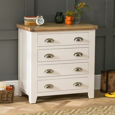Cheshire Cream Painted 4 Drawer Compact Chest- WW08