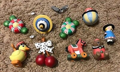 MARY ENGELBREIT SMALL CHRISTMAS ORNAMENTS - Lot Of 9