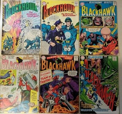 Dc Blackhawk #184 #194 #205 #207 #214 #243 ~ Silver Age ~ See Pictures!!