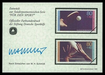 BRD SPORTHILFE 1989 ENTWÜRFE TISCHTENNIS VOLLEYBALL TABLE TENNIS PROOFS by29