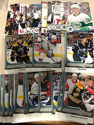 2017-18 UD Series 2 JUMBO set with Young Guns Complete Set 28 cards Mcdavid