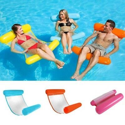 Swimming Inflatable Floating Float Water Hammock Pool Lounge Bed Chair Summer VA