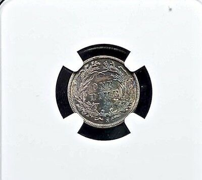 1887 S 10C SEATED LIBERTY DIME NGC MS62 Some Tone 130 Yr Young Americana Coinage