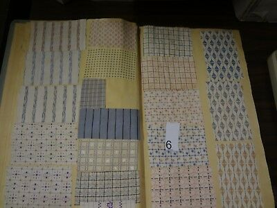 Antique Vintage fabric French sample swatch book printed cotton 1935 shirt # 6