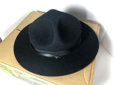 Vintage Pennsylvania State Police Trooper Hat in original box with Rain Cover
