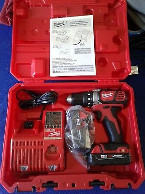 """Milwaukee M18 18V Compact 1/2"""" Drill/Driver Kit Model Number 2606-22CT NEW!!"""
