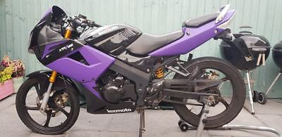 Lexmoto XTRS125 Motorbike Motorcycle 125 **SPARES OR REPAIRS** Purple Wrapped
