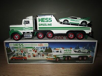 Hess 1991 Toy Truck Hauler and Racer in Original Box
