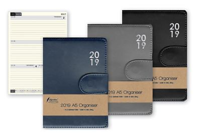 2019 A5 Organiser Premium Week To View Diary With A-Z Address Index & Pen