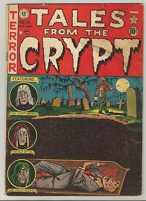 TALES FROM THE CRYPT # 28 (1952) - Buried Alive Cover by Al Feldstein - Good+