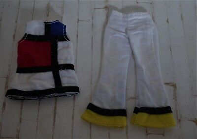 BL Blythe doll 2001 Takara Mondrian outfit.Top & trousers for Kenner Takara doll