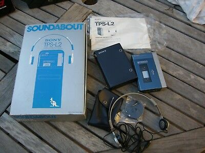 Sony Tps-L2 Walkman, Original Leather Case, Mdr-3L2 Headphones, In Original Box!