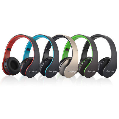 Wireless Bluetooth Headset Earphone Stereo Foldable Headphone w/Mic for iPhone