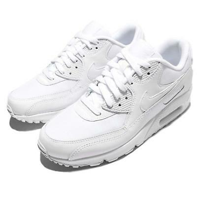 Nike Air Max 90 Essential Triple White Mens Running Shoes Sneakers 537384-111