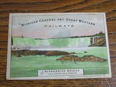 Michigan Central and Great Western Railway Advertising Card