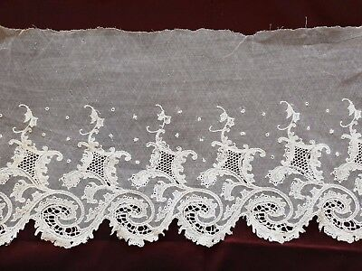 "Gorgeous Edwardian French LACE EDGING 94"" by 9 1/2"""