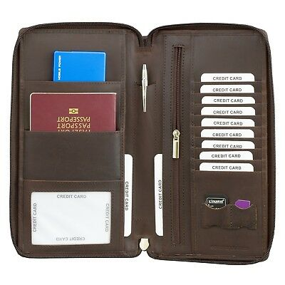 Travel Wallet Passport Holder Rfid Organiser Pouch Cards Family Document Money