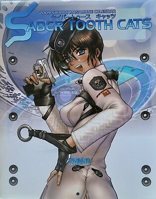 Masamune Shirow// Poster Calendar 2008 Saber Tooth Cats  Ghost In The Shell