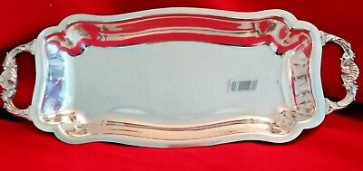"""Vintage Silver on Copper 14 1/2"""" x 6"""" Oblong Serving/Relish Tray"""