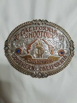 Very rare rodeo champion buckle trophy team roping prca ipra ustrc gist ustpa