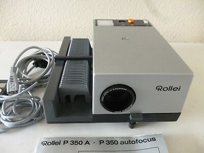 Rollei P350A AutoFocus Slide Projector with Remote + Atlantis Universal Screen