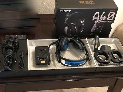 Astro Gaming A40 TR Headset + Mixamp Pro (PC/PS4), Noise Canceling Mod Kit